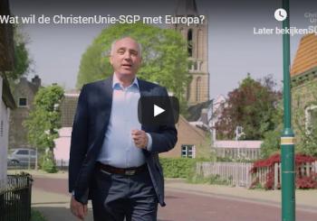 Stem ChristenUnie-SGP bij de Europese verkiezingen op 23 mei!