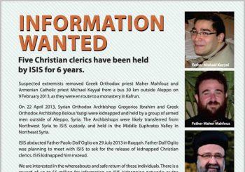 VS reikt beloning uit voor informatie over ontvoerde bisschoppen